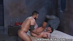 RagingStallion Swole Latino Fucks guy in Alley