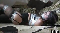 Sahrye Tape Gagged and Bound in Bondage
