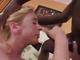 Interracial anal whores Blonde whore loves bbc anal creampie