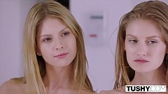TUSHY Two Models Compete Over Who Can Gape Better