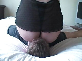Using his cum as lube Using his face so i can cum again
