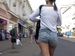 Penis poked out denim shorts - Teenage ass in denim shorts 2
