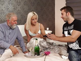 Dad boy fuck hot video - Boy didnt expect that old dad will fuck his hot gf ria sun