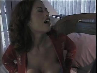 Tits and blacks - Sexy brunette gets her big tits and mouth fucked by a big black cock