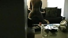 Watching his wife fuck a black guy on the couch