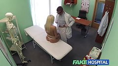 FakeHospital Doctors recommendation has sexy blonde paying t