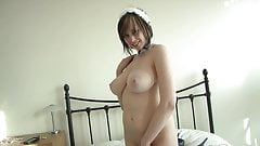 Not your everyday French Maid, Big Tits in Fishnet Lingerie