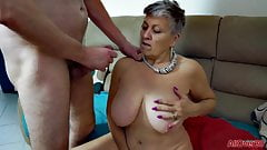 GRANNY SAVANNAH GETS ROUGH FUCKING
