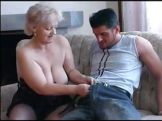 Cum on plump grannie Plump old blonde granny in stockings fucks