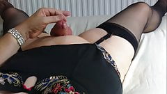 MATURE TVROSE IN LINGERIE WITH BUTT PLUG