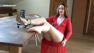 MORNING HORNY FOOT SLAVE