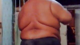 Fat man dances from Brazil