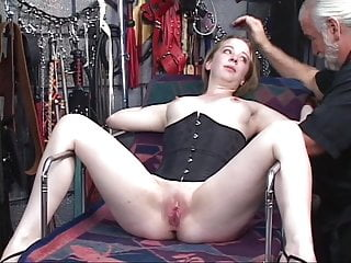 Man gets vibrator in cock Trish gets restrained to bed and gets vibrator deep in pussy by dom