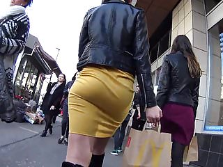 Yellow skirts hot ass - Bubble butt tight yellow skirt