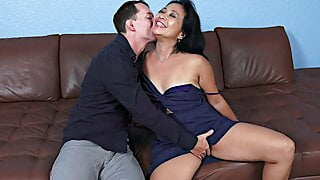 Horny hairy Milf loves young hard cock