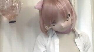 kigurumi-massive enema,3.5liters
