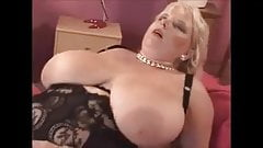 Mom with incredibly huge real boobs sucks dick