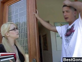 Blonde sex slutty - Slutty blonde fucks her bffs brother