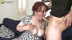 Lucky son fucks not his grandmother
