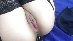 In black lingerie jerking off my hot tight ass