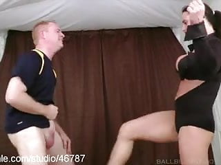 Femdom ball busting video Ball busting fun at clips4sale.com