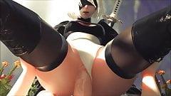 NieR Automata 2B - Vaginal Sex with sound - Hentai