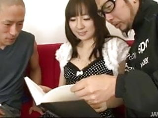 Reading lessons for adults - Hitomi fujihara gives two horny guys reading lessons