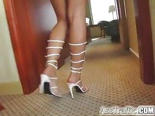 Large glass anal plug - Ass traffic kristina enjoys a glass plug and gets butt