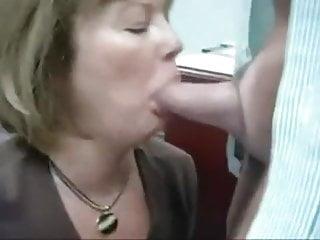 Real secretary sex Real secretary eats cum from her boss