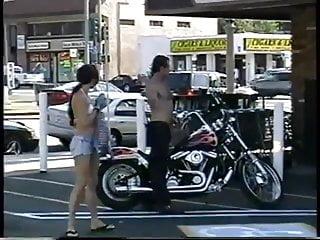 Biker blowjob - Outdoor biker couple