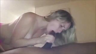 Amateur hot blonde has romantic interracial sex