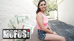 College Cutie Stella Stone Slides On A Stranger's Hard Dick