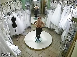 Voyeur spy camera Spy camera in the salon of wedding dresses 2 sorry no sound