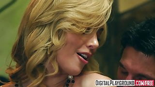 Kayden Kross - Sexy Blonde boss wants her pussy licked