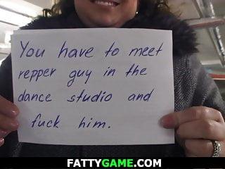 Fat girl skinny girl sex Busty big belly fat girl seduces skinny guy