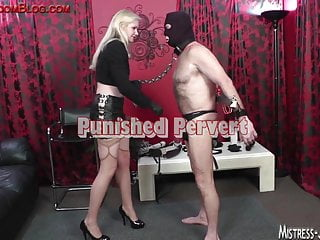 Pussy cock torture - Strap on and cock torture after long pussy worship