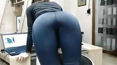 Ass in yoga pants tease