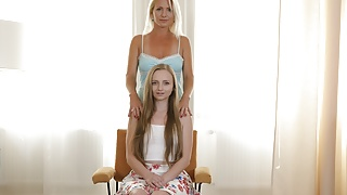 Girl in love with amazing mature mom