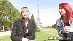 Hot Ava Courcelles and Julie Share Sex Toys in Public