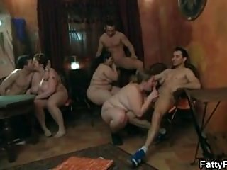 Sex positive parties Fatty plumper is screwed in various positions