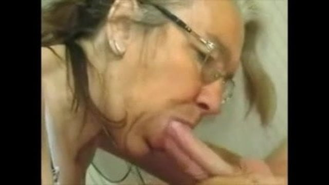 With glasses can also suck cocks