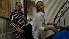 Daddy Smoking Cigar As The Maid Sucks His Cock