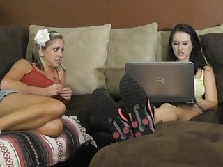 Blondes and brunettes porn - Sexy foot sniffing and foot worship
