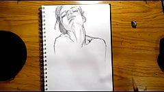 Pencil Drawing Techniqe Female Nude Body