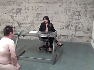 Ball busting blow jobs - Asian boss ball busting slave
