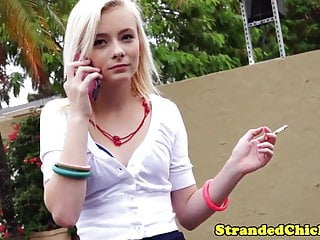 Nude stranded - Stranded smalltits teen gets a messy facial