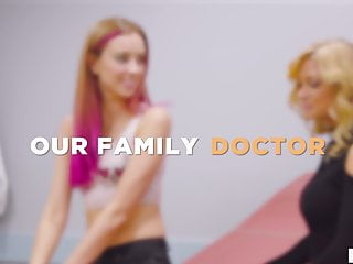 Stepdaughter threesome Stepdaughter and mom visits female doctor