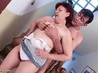 Deep fucked mature cum - Hairy german mature gets deep fucked