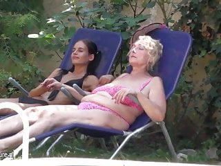 Hot girl mature - Hot girl fisting a mature lesbian mother