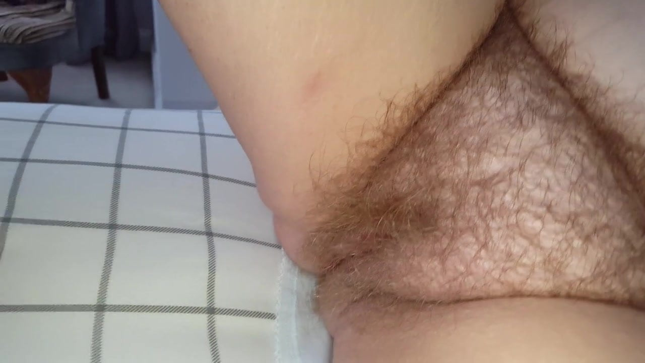 Blonde Hairy Pussy Close Up